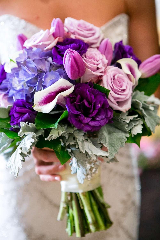 Enchanted Florist Puple Pink And Blue Bridal Bouquet