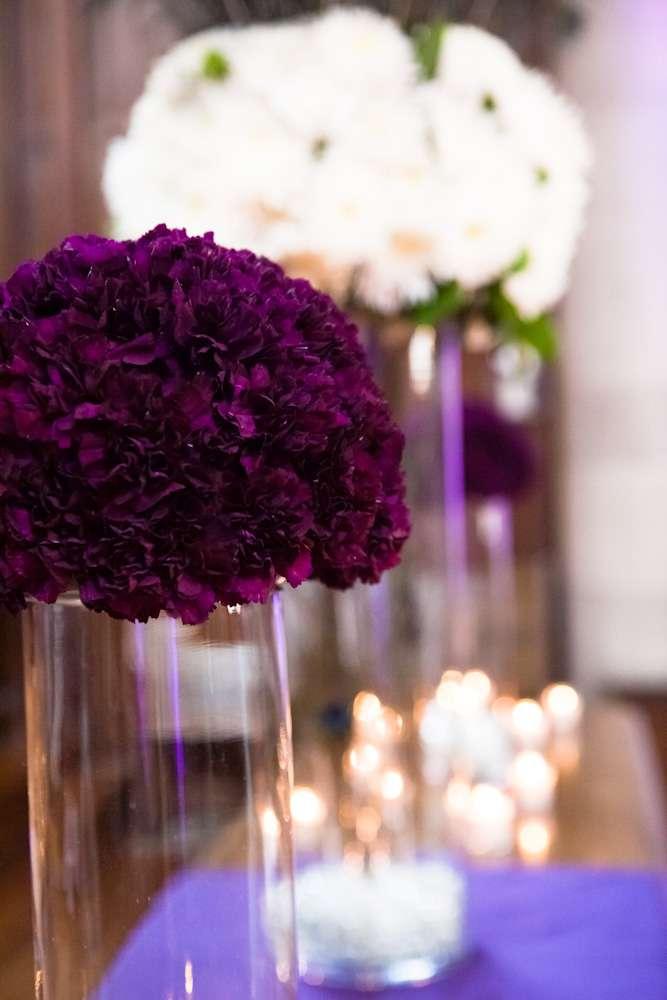Enchanted Florist | Purple and white Carnation balls