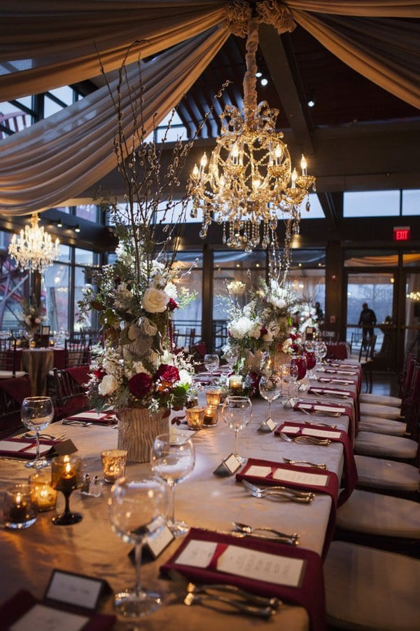 Bold winter wedding