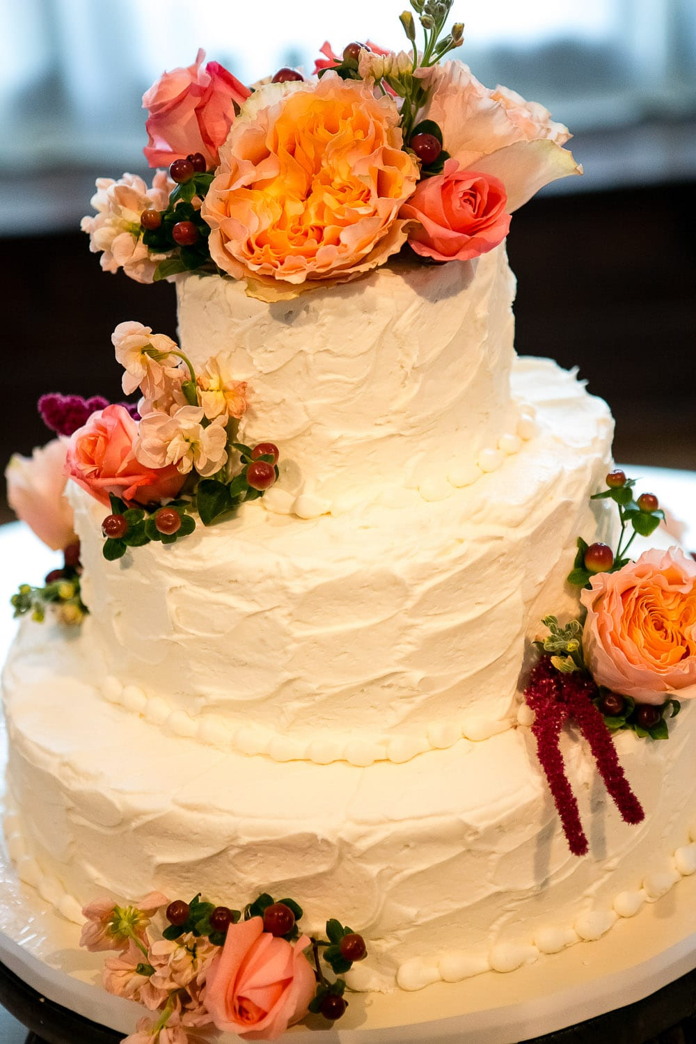 peach wedding cake flowers enchanted florist color inspiration coral and 18145