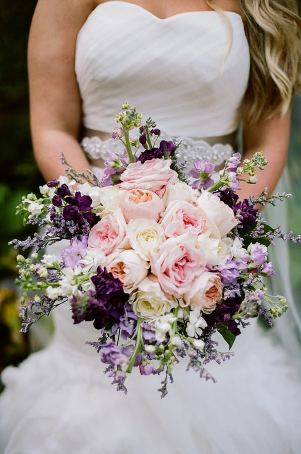 Enchanted Florist Purple Gold Fall Wedding at CJs Off the Square