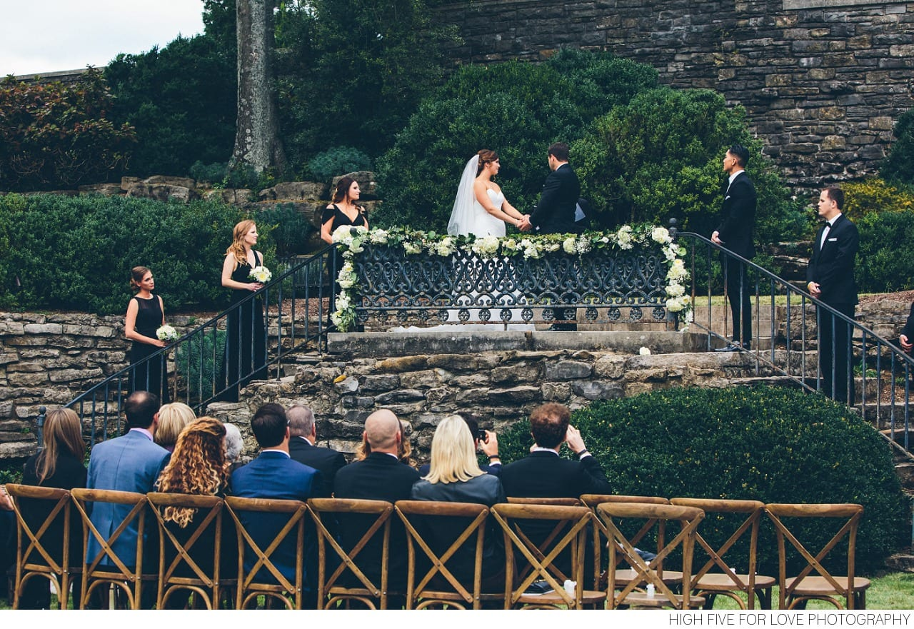 Enchanted Florist Black Tie Wedding Cheekwood