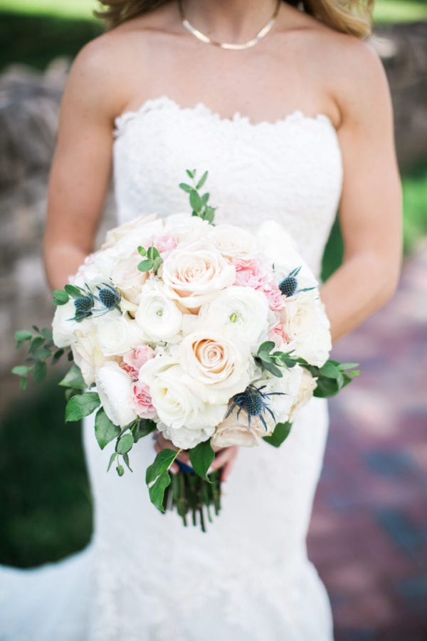 pink blue southern wedding enchanted florist