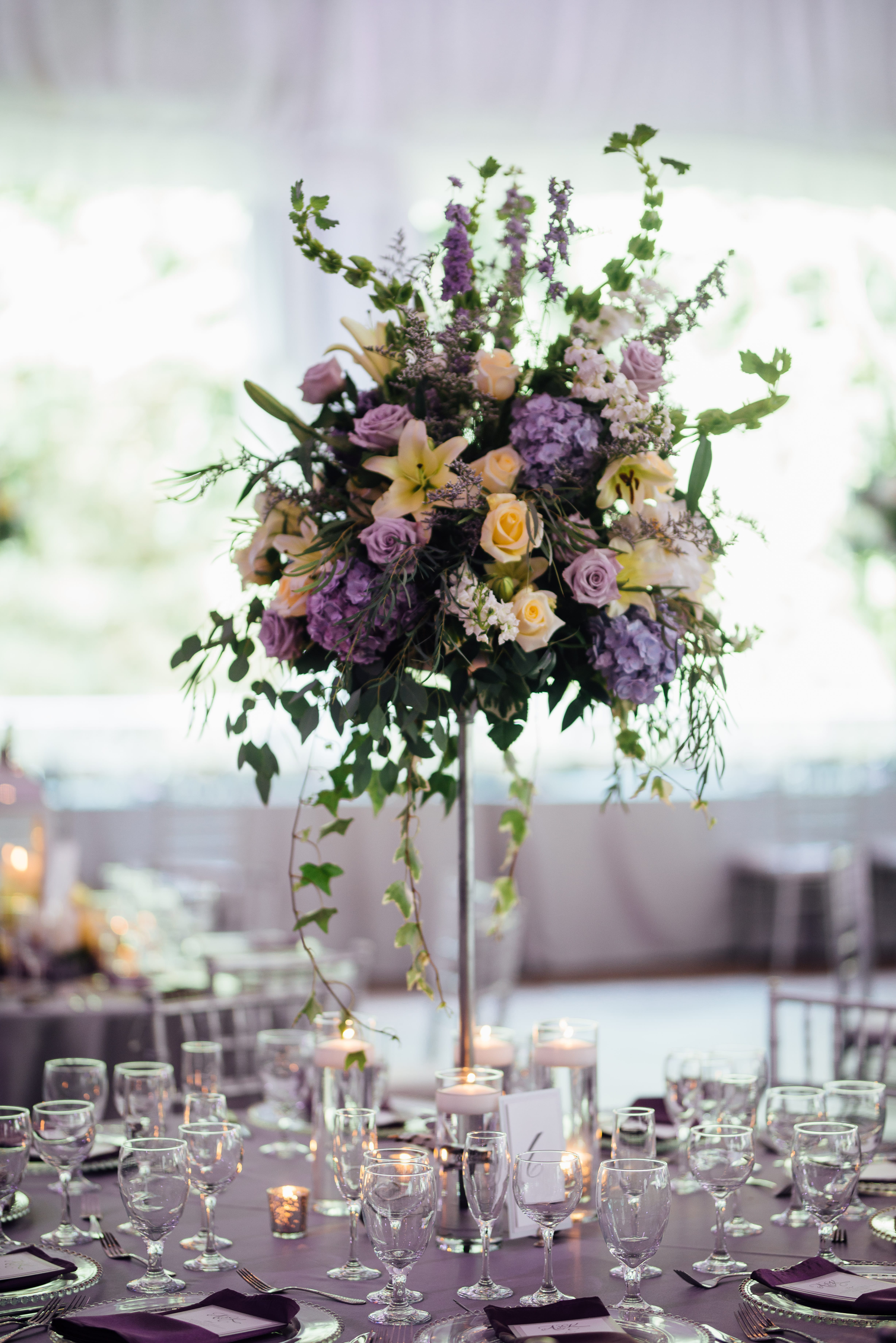 Enchanted florist purple wedding flowers lavender and lemon yellow majesty real wedding at riverwood mansion mightylinksfo