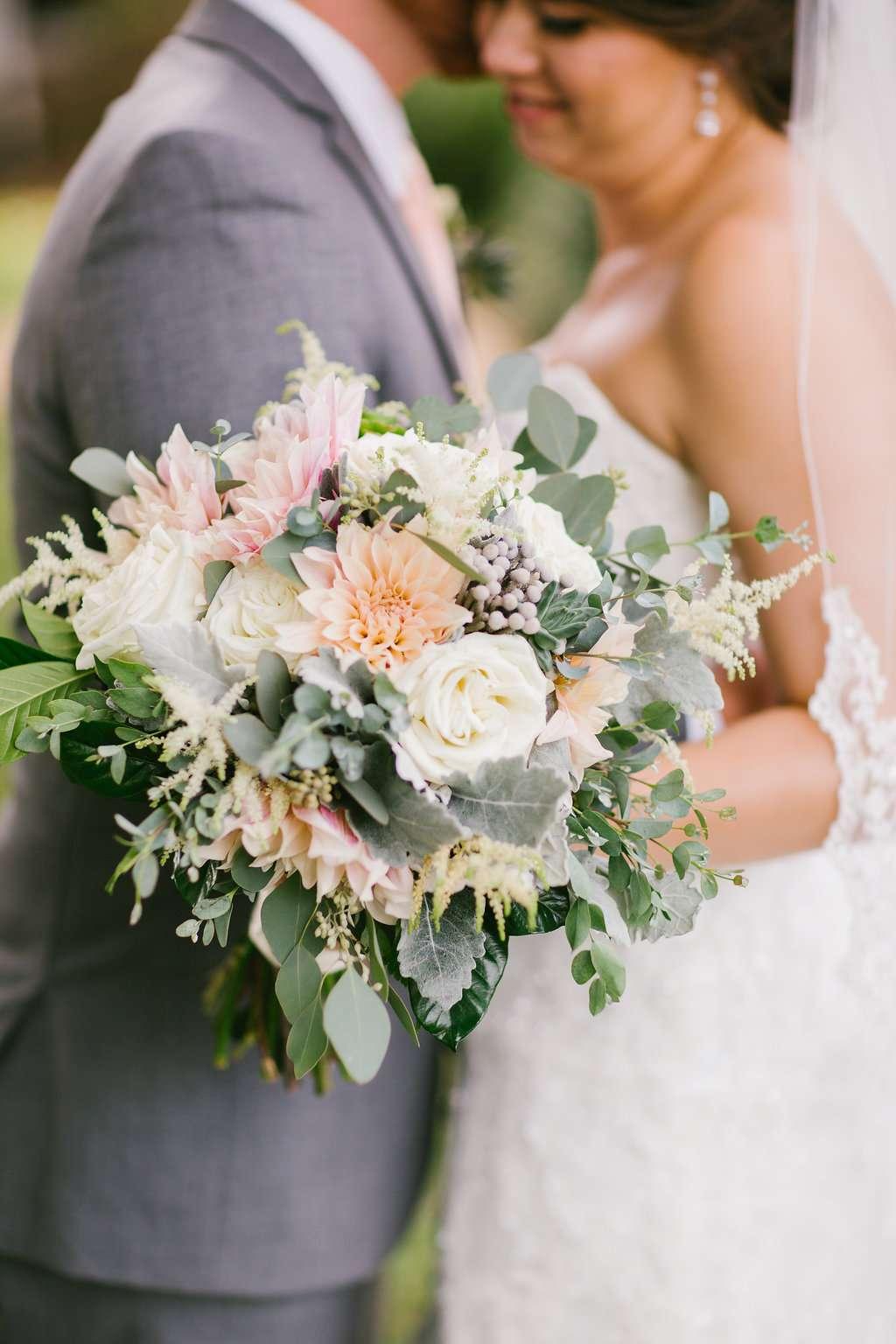 Delicate Dahlias Real Wedding At Homestead Manor Enchanted Florist