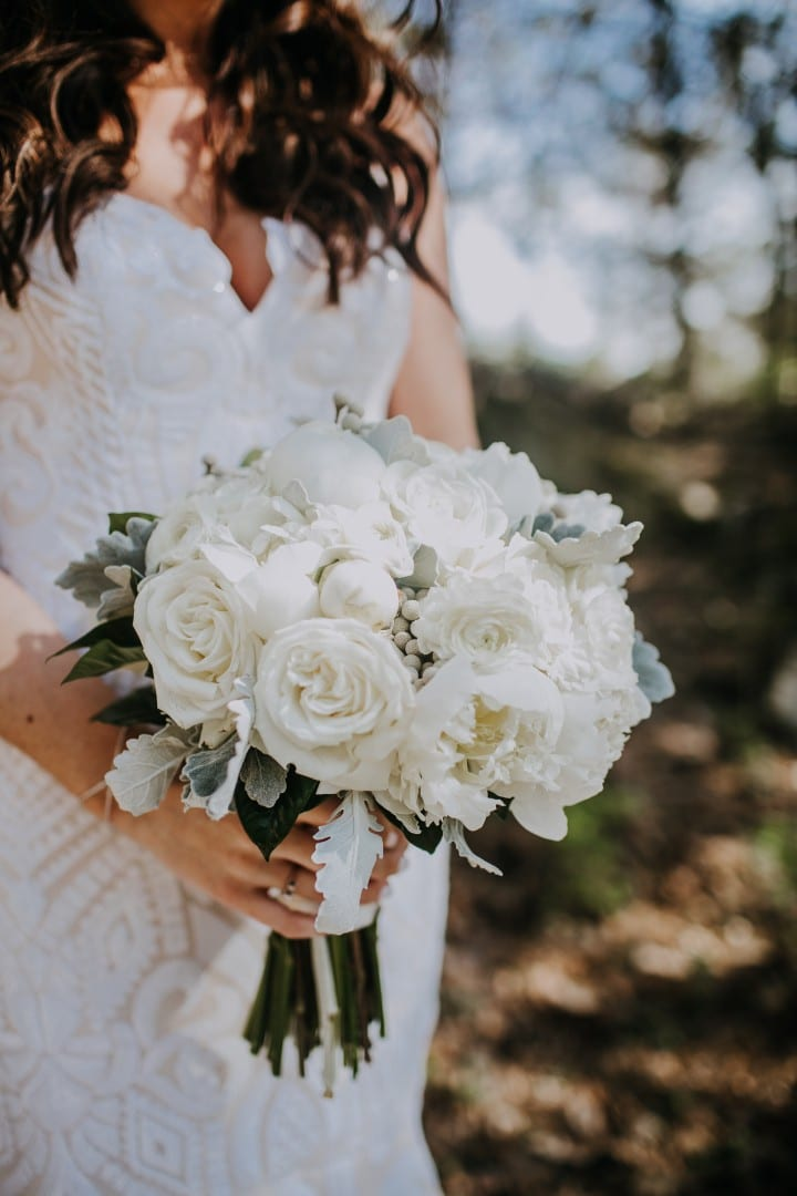 Enchanted Florist | White Wedding Flowers at Graystone Quarry by ...