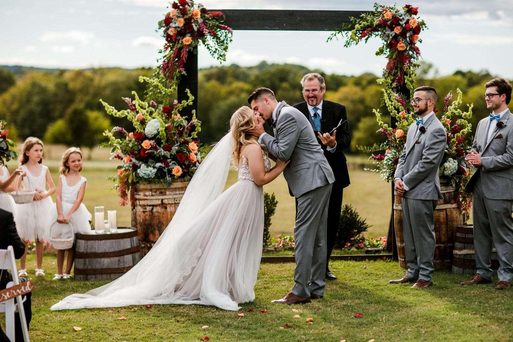 Vintage Outdoor Wedding | Allenbrooke Farms | Enchanted Florist