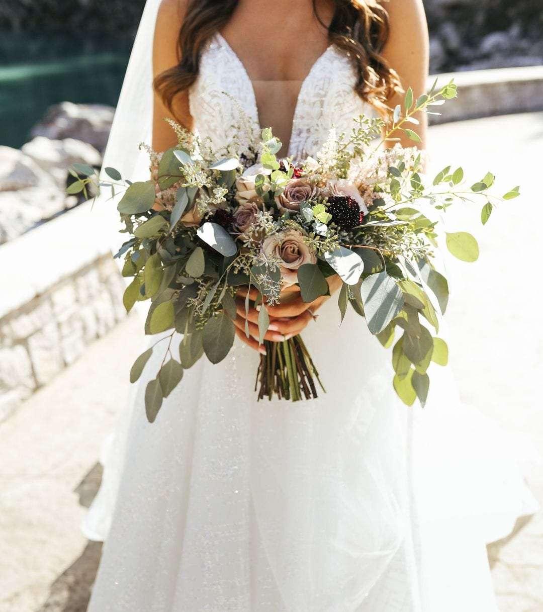 White And Mauve Nashville Wedding Enchanted Florist