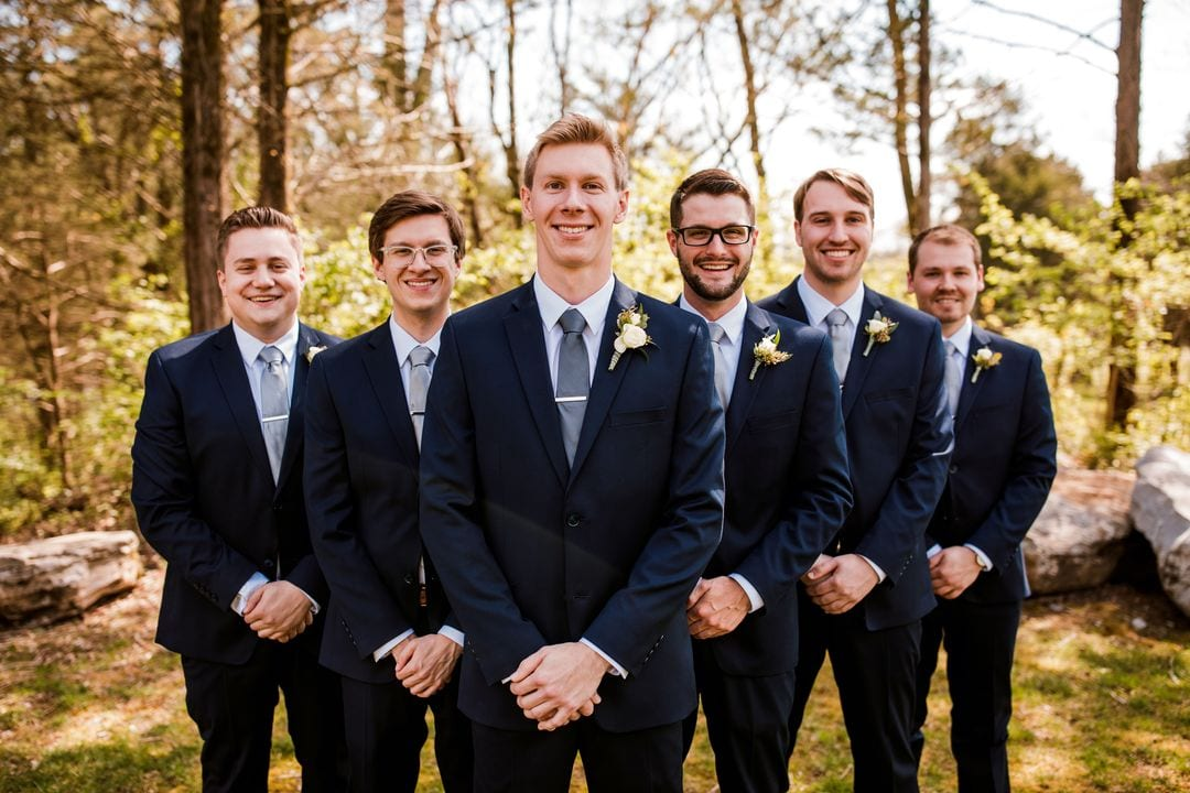 navy blue groom southern wedding