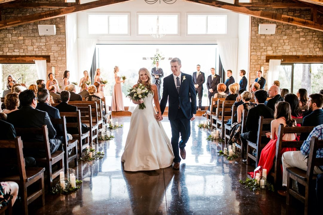 bride and groom graystone quarry wedding
