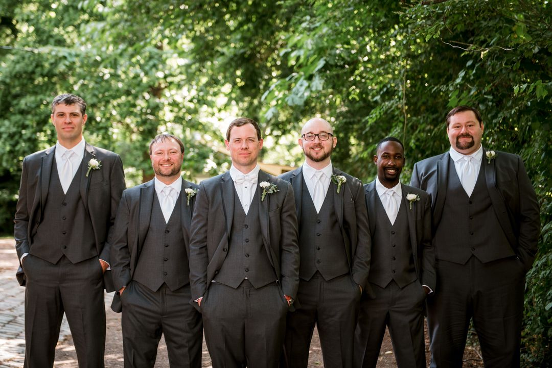 dark grey groomsmen party