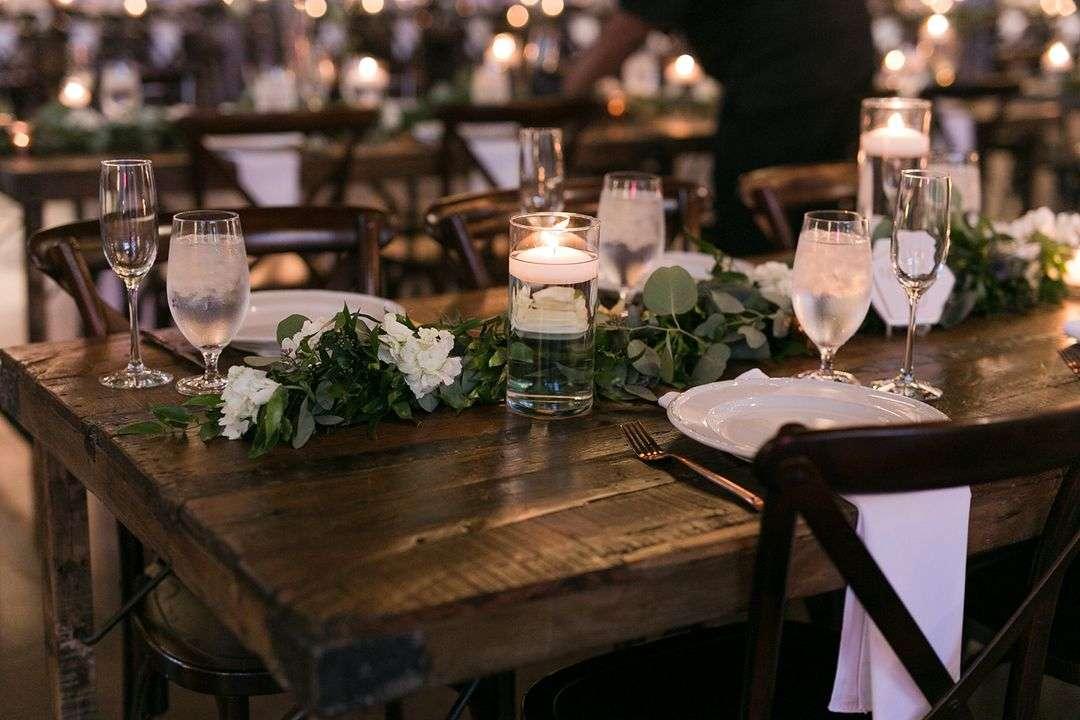wedding flower garland centerpieces