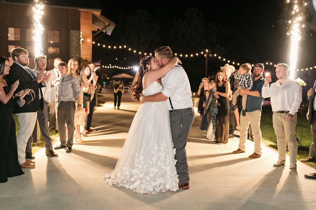 sparkler wedding grand exit
