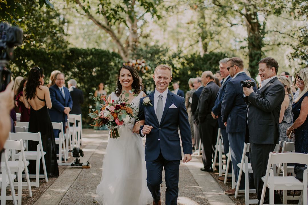 bride and groom outdoor wedding reception tennessee