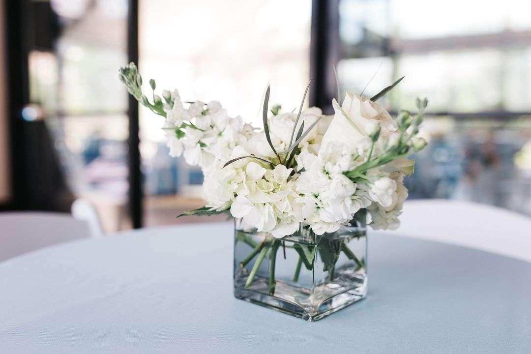 all white wedding centerpieces
