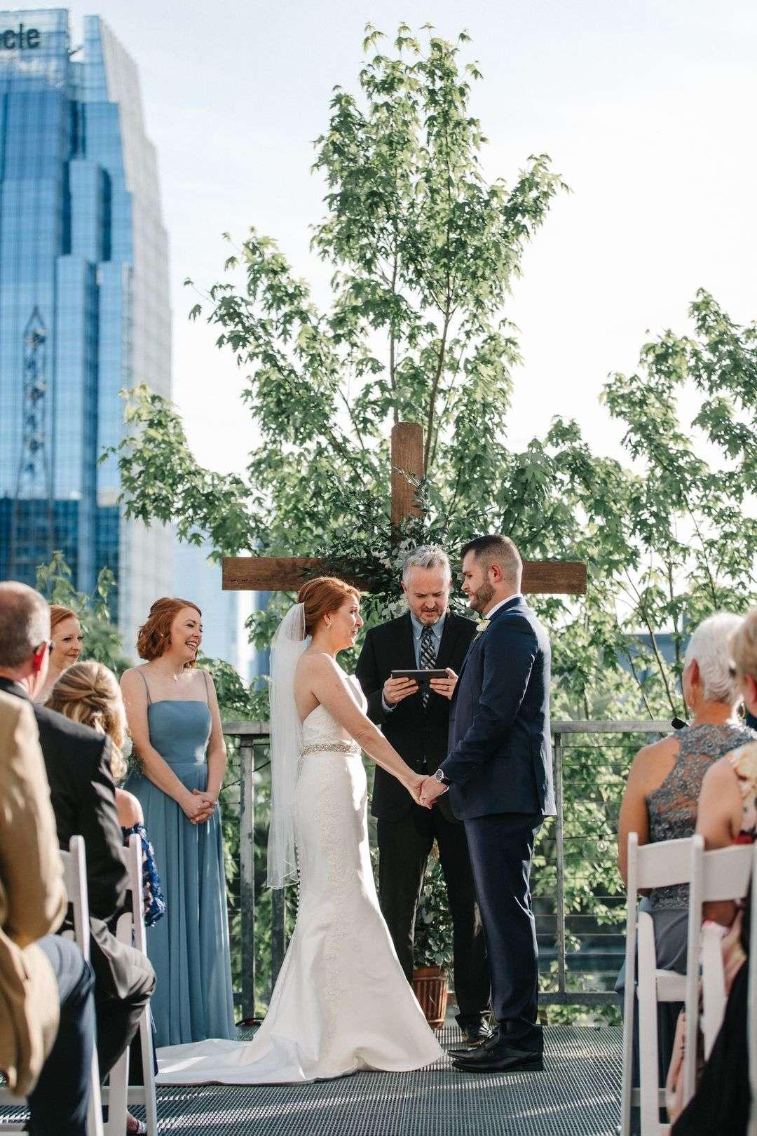 outdoor wedding in downtown nashville
