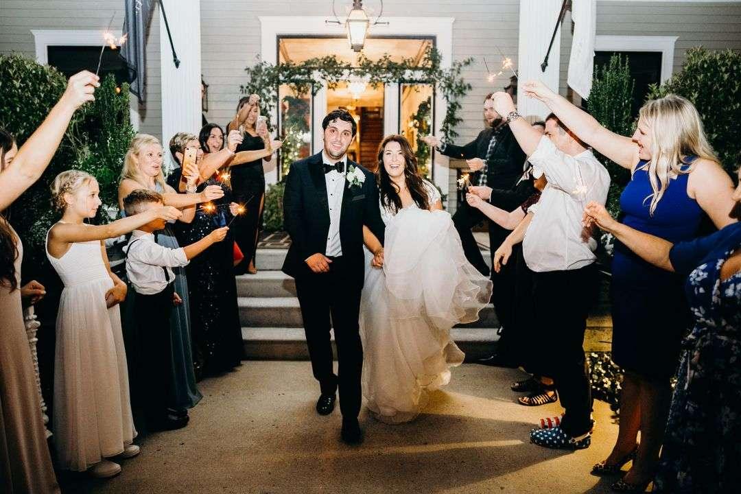 sparkler grand exit for wedding