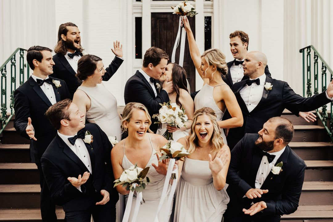 wedding party at riverwood mansion