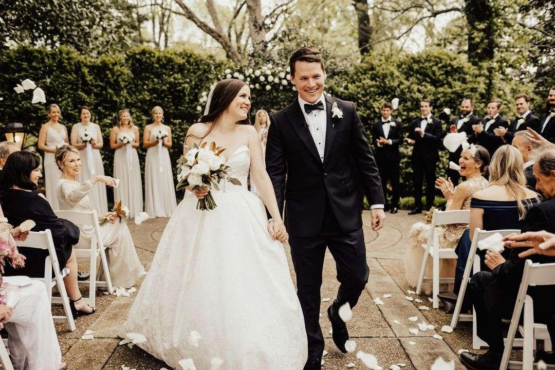 bride and groom ceremony portraits
