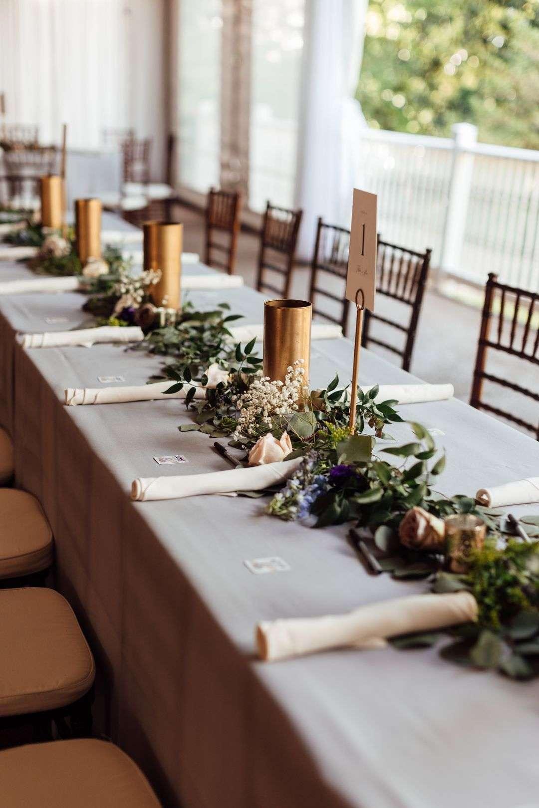 neutral outdoor wedding reception