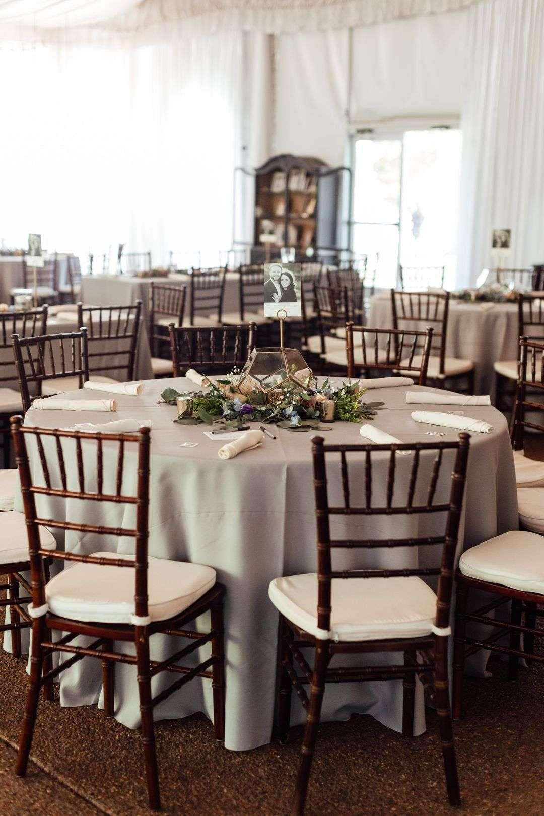 silver grey wedding reception