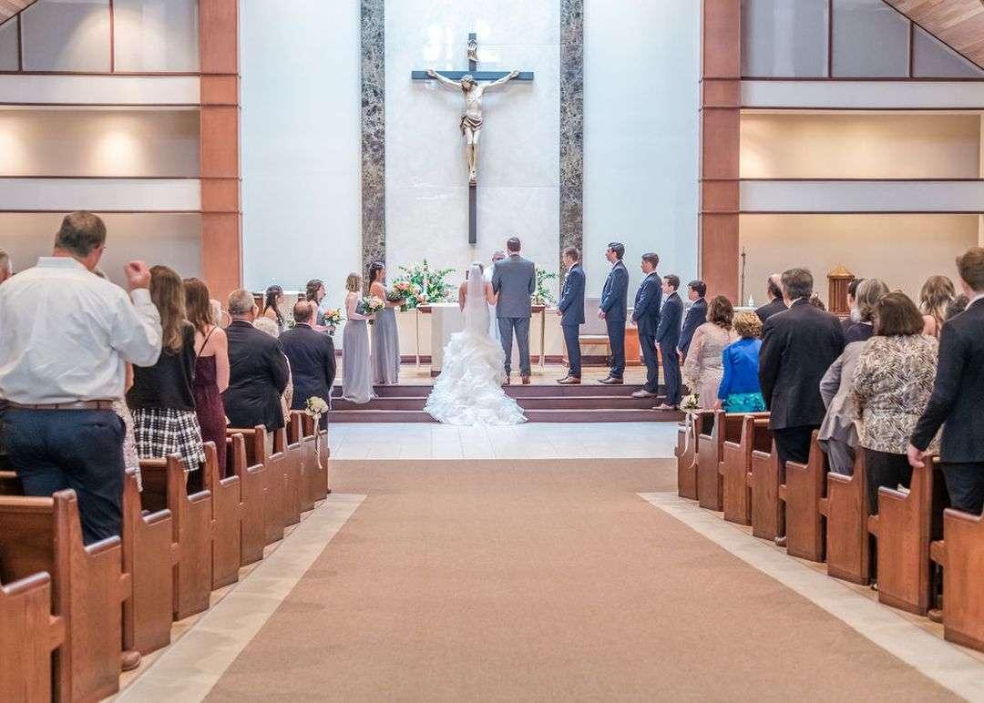 indoor church wedding