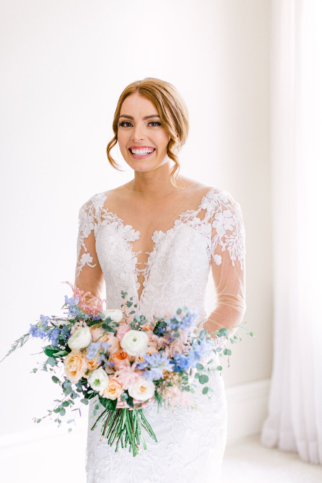 colorful pastel wedding flowers