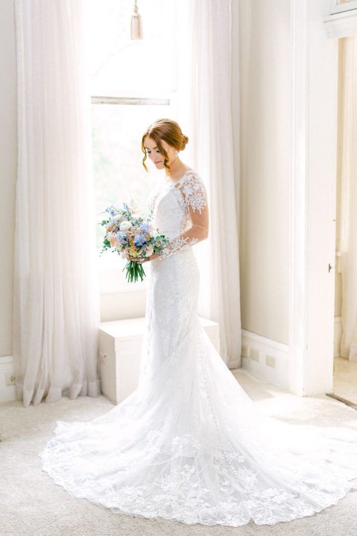romantic aline wedding dress