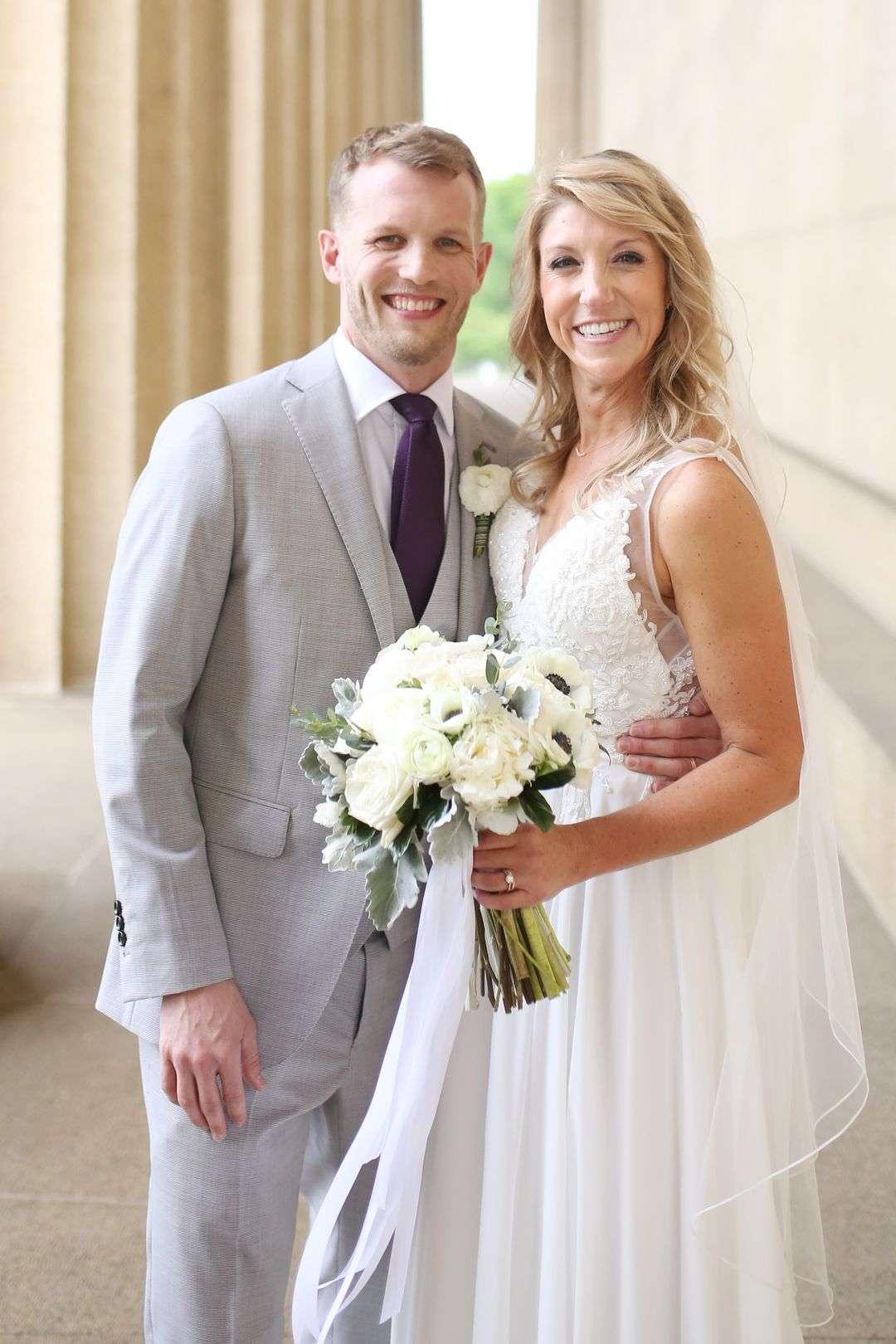 organic white and green wedding