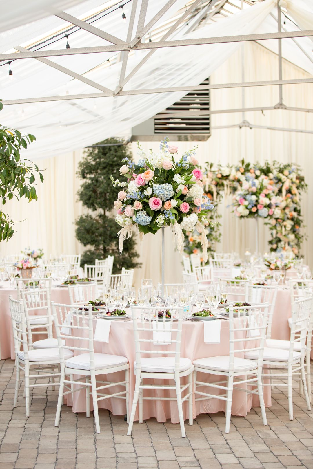 taall colorful centerpieces