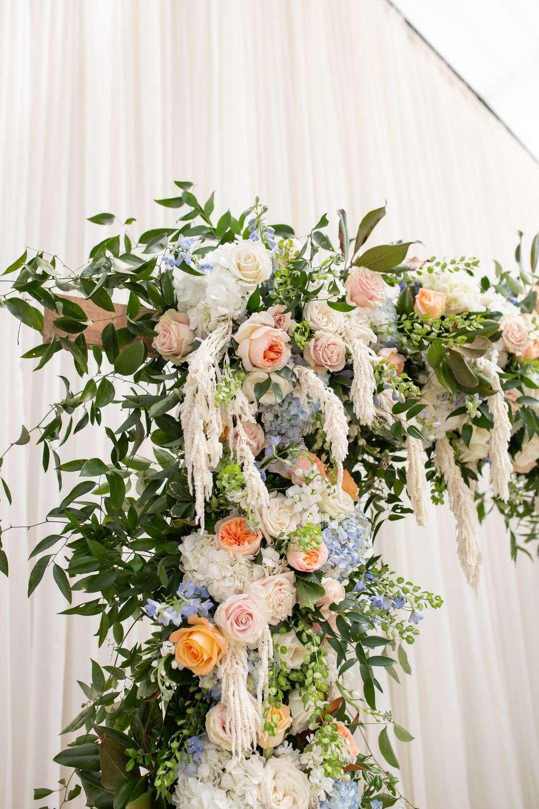 colorful wedding arbor